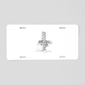 Sheltie weave poles Aluminum License Plate