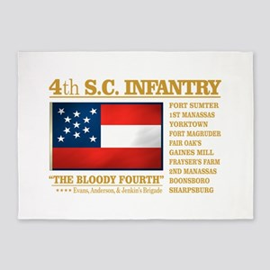 4th South Carolina Infantry 5'x7'Area Rug