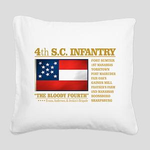 4th South Carolina Infantry Square Canvas Pillow