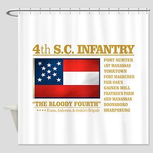 4th South Carolina Infantry Shower Curtain