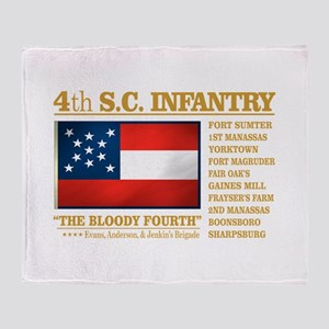4th South Carolina Infantry Throw Blanket