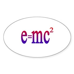 e=mc2 Oval Decal