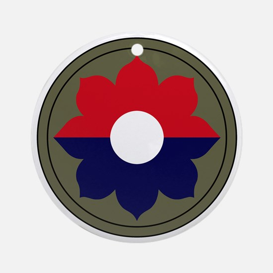 9th Infantry Division Round Ornament