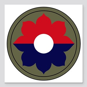 "9th Infantry Division Square Car Magnet 3"" x 3"""