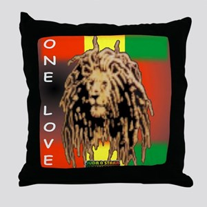 ONE LOVE LION Throw Pillow