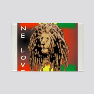 ONE LOVE LION Rectangle Magnet