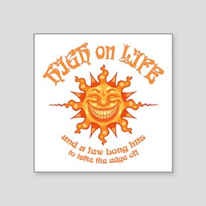 "high-on-life2-T Square Sticker 3"" x 3"""