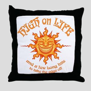 high-on-life2-T Throw Pillow