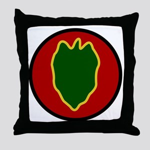24th Infantry Division Throw Pillow