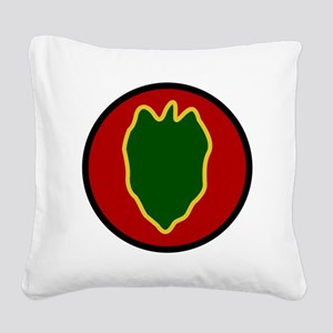 24th Infantry Division Square Canvas Pillow