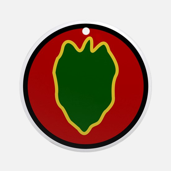 24th Infantry Division Round Ornament