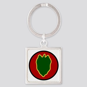 24th Infantry Division Square Keychain