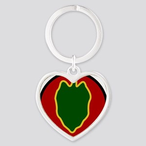 24th Infantry Division Heart Keychain