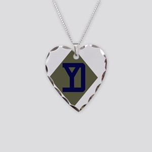 26th Infantry Division Necklace Heart Charm