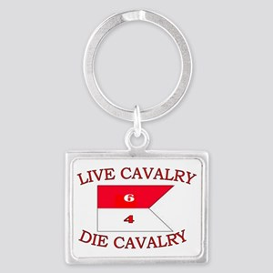 6th Squadron 4th Cavalry cap 4 Landscape Keychain