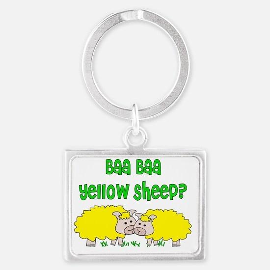 baa baa yellow sheep Landscape Keychain