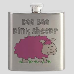 baa baa Pink Sheep Flask