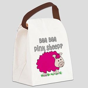 baa baa Pink Sheep Canvas Lunch Bag