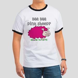 baa baa Pink Sheep Ringer T