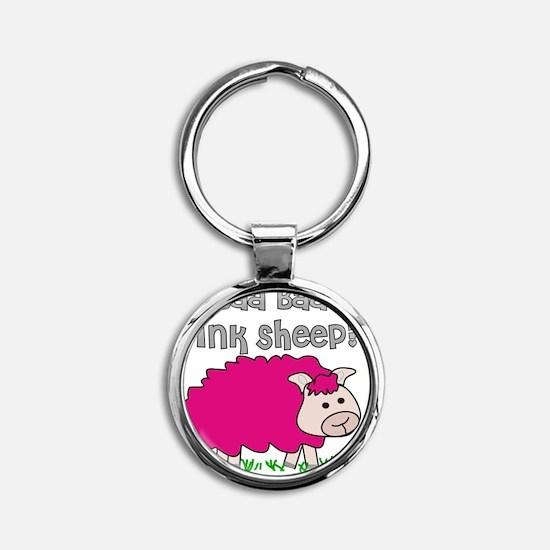 baa baa Pink Sheep Round Keychain