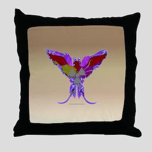 Pop Art Phoenix Throw Pillow