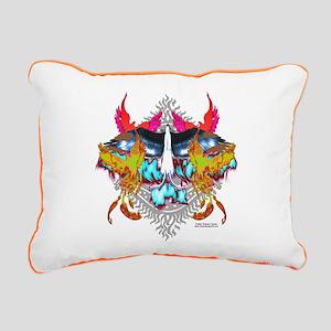 Phoenixes Rectangular Canvas Pillow