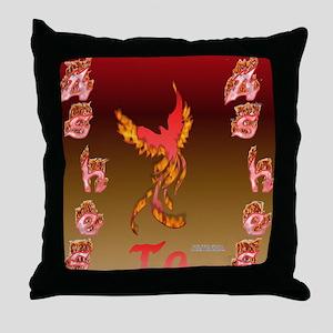 Phoenix Ash Throw Pillow
