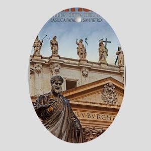 Vatican City Statues Oval Ornament
