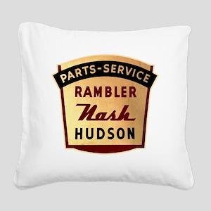 nash rambler hudson hornet Square Canvas Pillow