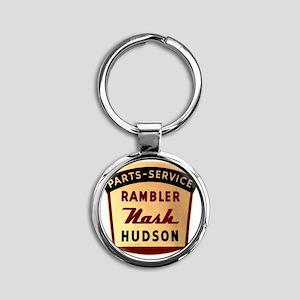 nash rambler hudson hornet Round Keychain