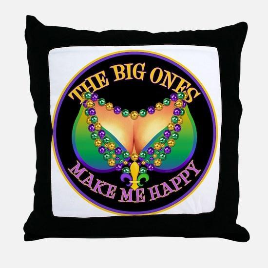 MGbeadsNboobsBigRtr Throw Pillow