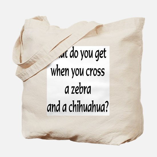 greeting card Zebhuahua text Tote Bag