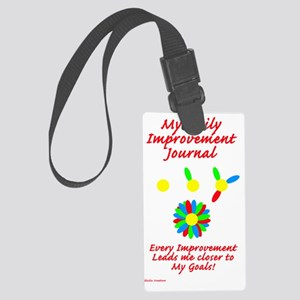 improvement journal Large Luggage Tag