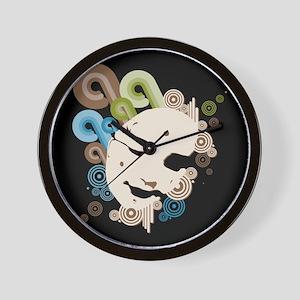 Moonie Green & Blue - Wall Clock