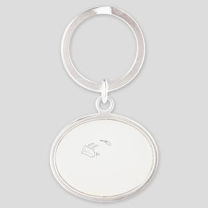 iFly Cessna white Oval Keychain