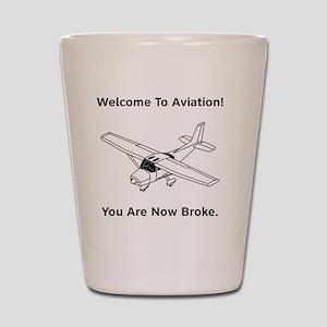 Aviation Broke Style 2 black Shot Glass