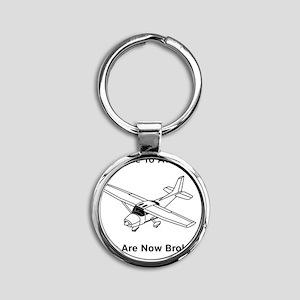 Aviation Broke Style 2 black Round Keychain