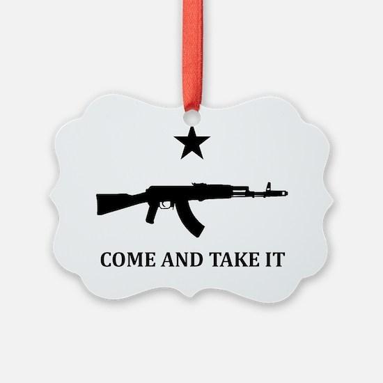 AK47 -COME AND TAKE IT- White Ornament