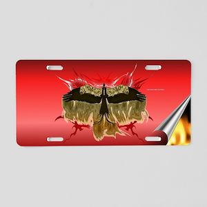 Golden Phoenix Aluminum License Plate