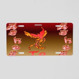 Phoenix Ash Aluminum License Plate