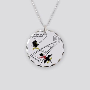 anna Necklace Circle Charm