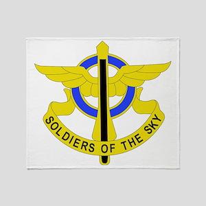 DUI - 10th Aviation Regiment Throw Blanket
