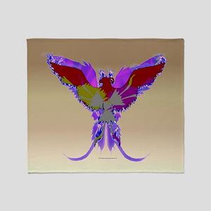 Pop Art Phoenix Throw Blanket