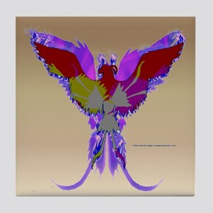 Pop Art Phoenix Tile Coaster