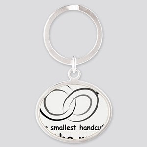 handcuffs Oval Keychain