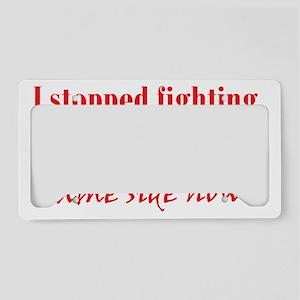 inner-demons_btle2 License Plate Holder