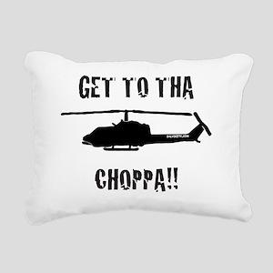 Black Choppa Rectangular Canvas Pillow