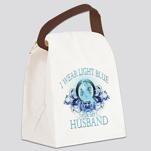 I Wear Light Blue for my Husband  Canvas Lunch Bag