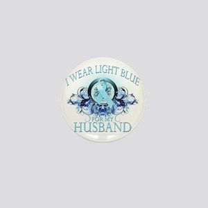 I Wear Light Blue for my Husband (flor Mini Button