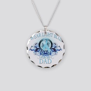 I Wear Light Blue for my Dad Necklace Circle Charm
